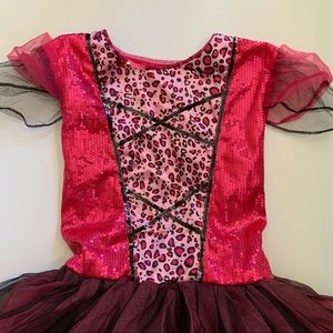 Other - Dress up pink cheetah costume w attached tail